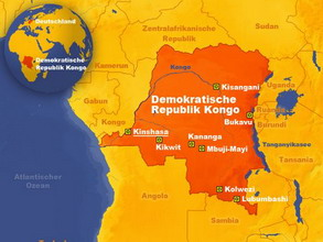 Carte de la République Democratique du Congo